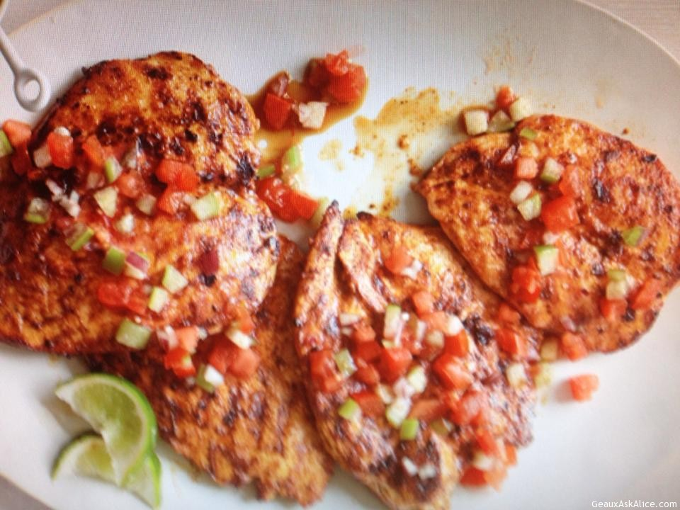 Chile Rubbed Grilled Chicken
