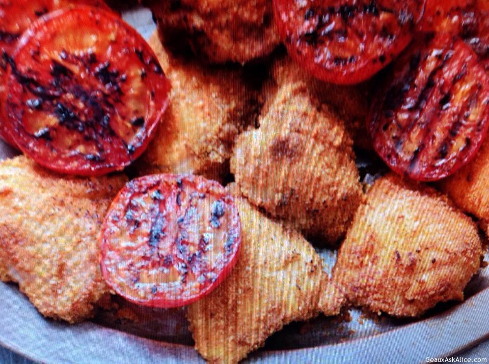 Crunchy Grilled Chicken Thighs