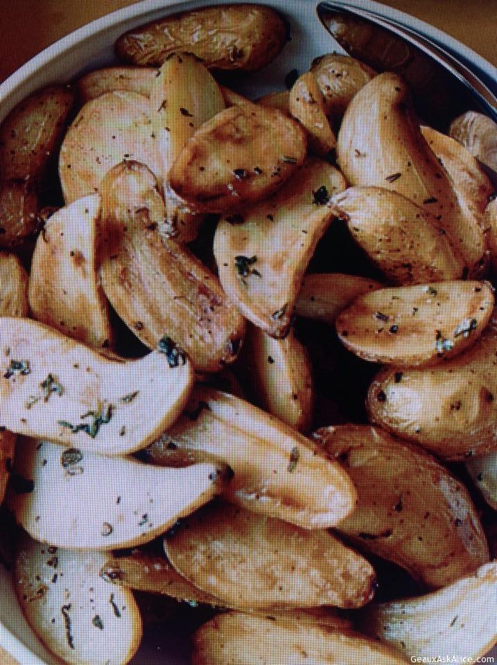 Lemony Roasted Fingerling Potatoes