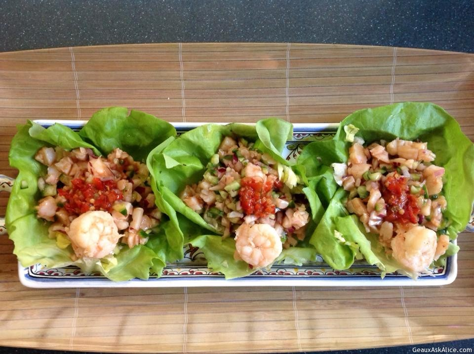 Asian Shrimp Lettuce Wrap