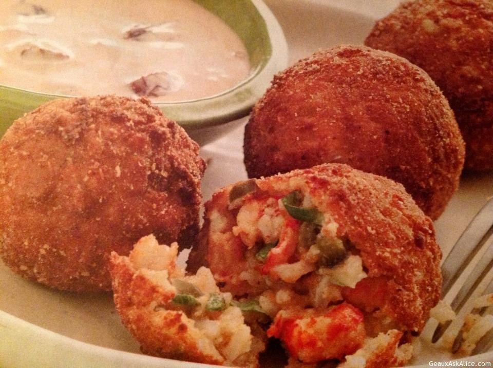 Fried Crawfish Étouffée Balls