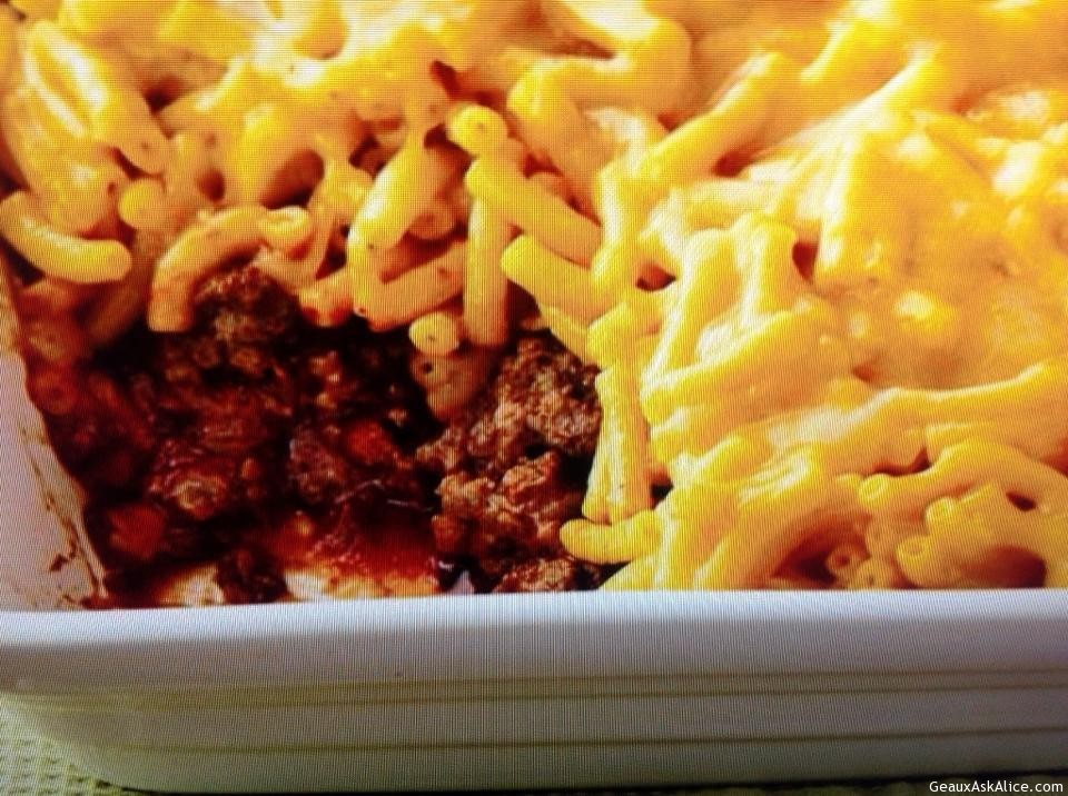 Sloppy Joe Mac And Cheese Casserole