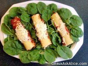 Alice's Spinach Manicotti 2