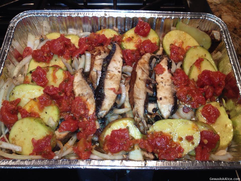 Layered Potato, Mushroom, Onion Casserole