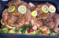 Tuscan Roasted Lemon Chicken with Root Vegetables