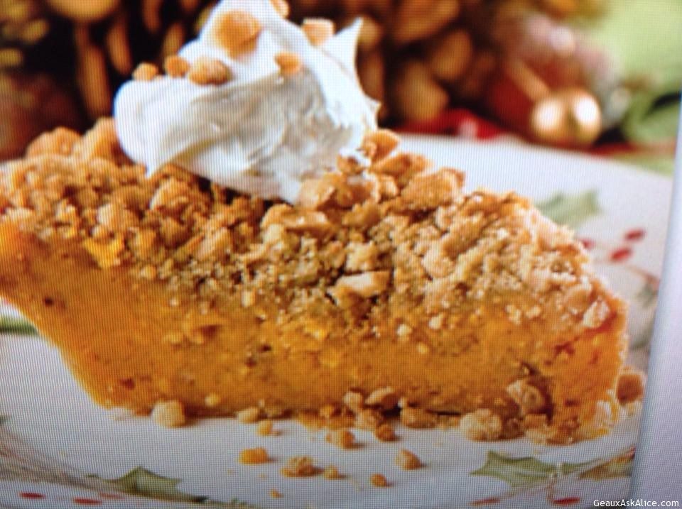 Toffee-Topped Sweet Potato Pie