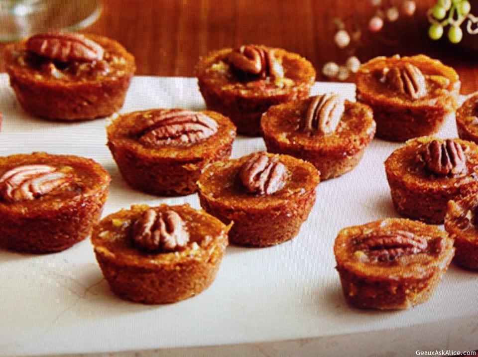 Mini Pumpkin Pecan Pies