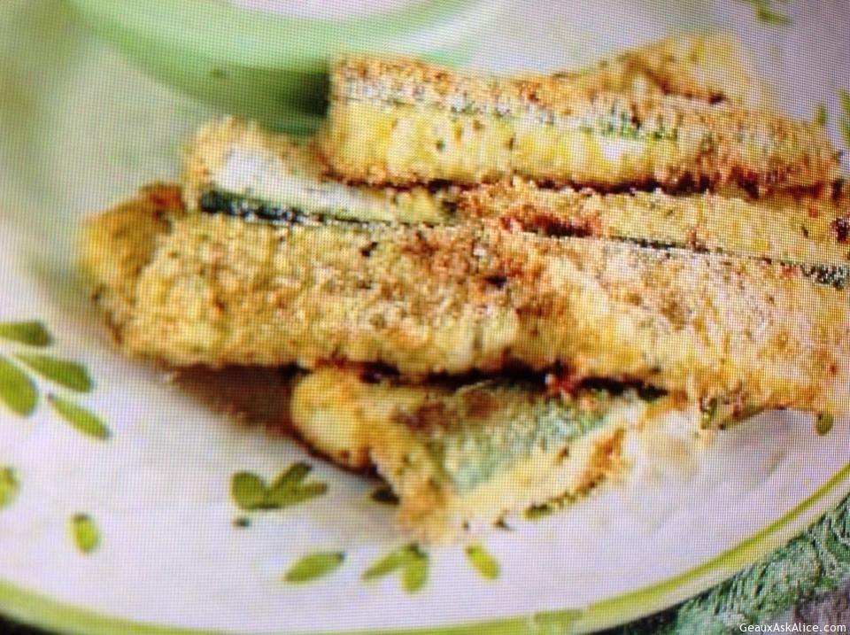 Parmesan Zucchini Strips