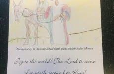 My Grand Peep, Aidan, had his drawing selected as the Christmas Card for his school, St. Aloysius. Nice Job!!!