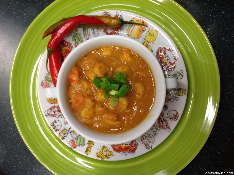 "ALICE'S THREE ""C'S"" SOUP (CARROTS, CANNELLINI BEANS & CRAWFISH)"