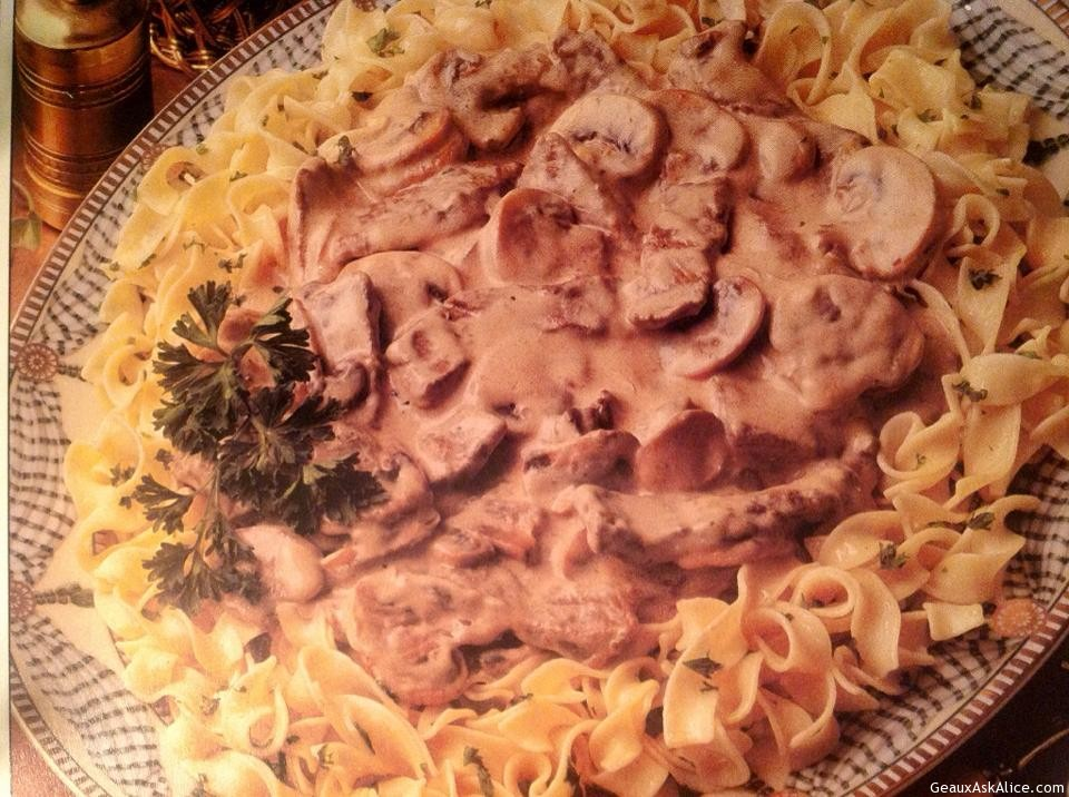 Classic Beef Stroganoff With Noodles