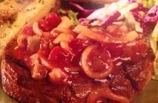 Sirloin Beef Steak with Sautéed Onions
