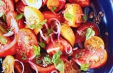 Heirloom Tomato Salad with Garlicky Anchovy Dressing