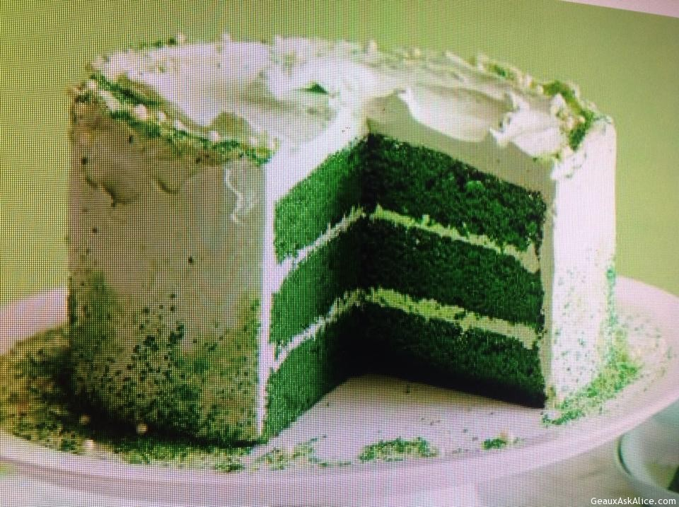 green velvet cake st paddy s green velvet cake geaux ask 4614