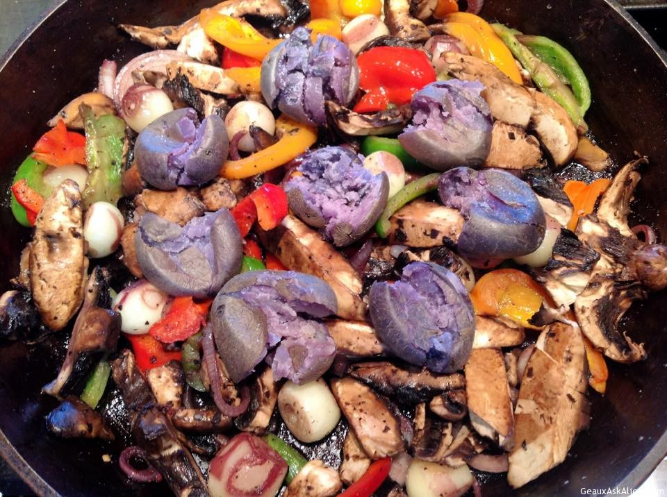 Purple Splendor A Potatoes With Sautéd Veggies