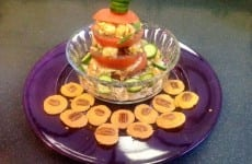 Tomato Stack with Shrimp Salad