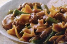 Beefy Green Bean Pasta