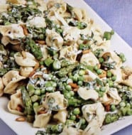 Tortellini with Asparagus and Minty Green Peas