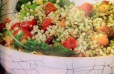 Couscous and Tomato Salad with Arugula Pesto
