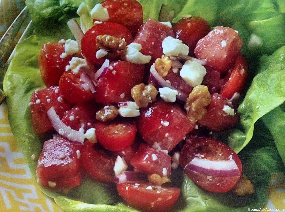 Zesty Watermelon- Tomato Salad