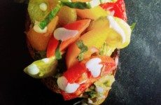 Herb Toasts with Avocado and Heirloom Tomatoes