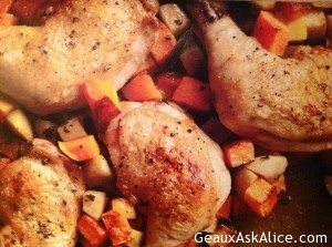 Pan Roasted Chicken with Butternut Squash