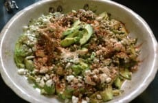 Avocado and Feta Salad with Basil Balsamic Vinaigrette