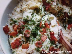 Bacon Flavored Mashed Potatoes