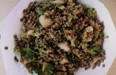 Savory Eggplant and Lentil Salad