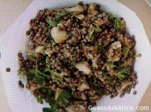 Savory Eggplant and Lentil Salad