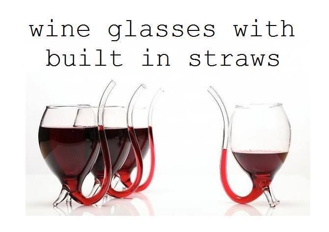 Wine Glasses With Straws