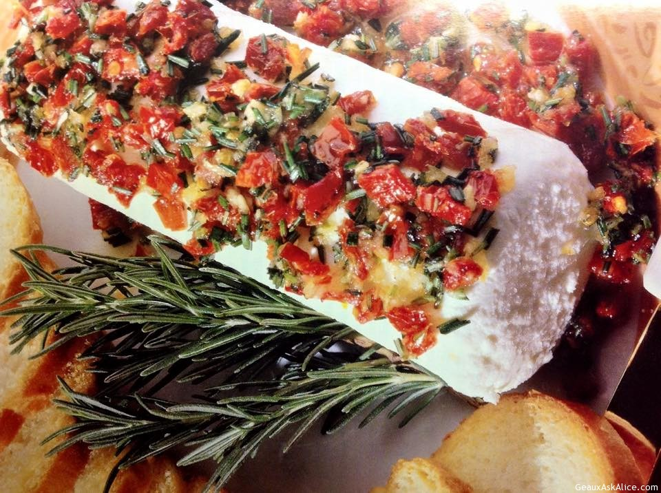 Goat Cheese Topped With Sun-Dried Tomatoes And Rosemary