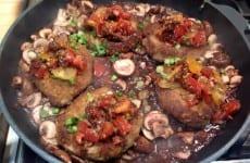 Italian Bread Crumbs/Panko Encrusted Boneless Pork Chops with Tomato Salsa