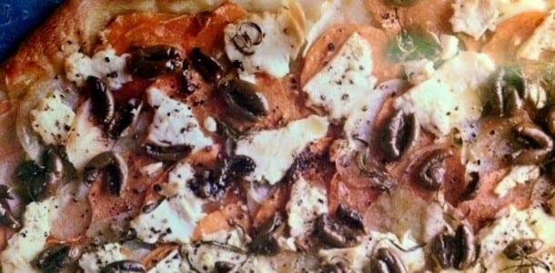 Potato, Olive and Feta Flatbread