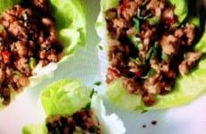 Spicy Ginger Pork Lettuce Wraps