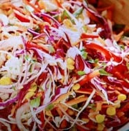 Zesty Smoked Corn Cole Slaw with Lime Dressing