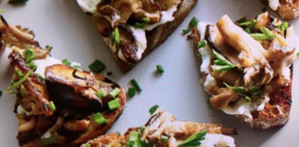 Crostini With Wild Mushrooms