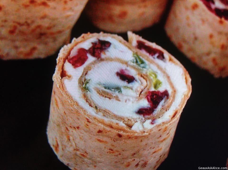Feta-Cranberry Pinwheels