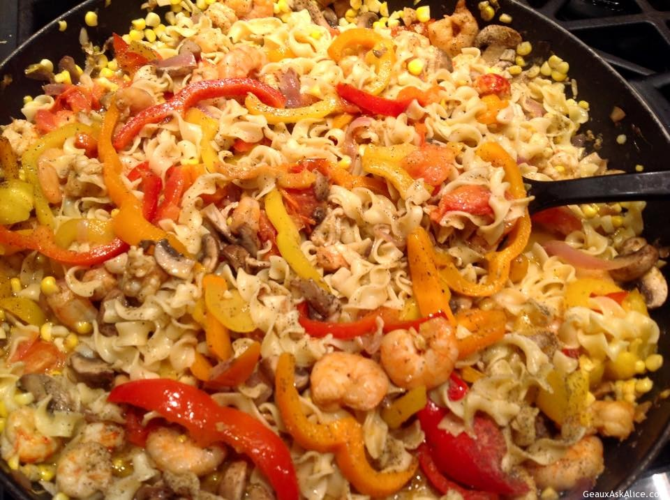 Quick And Easy Seafood Pasta In A Skillet