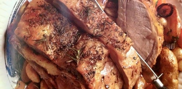Roasted Rack of Veal with Root Veggies