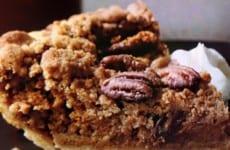 Pecan Streusel Bourbon Pumpkin Pie