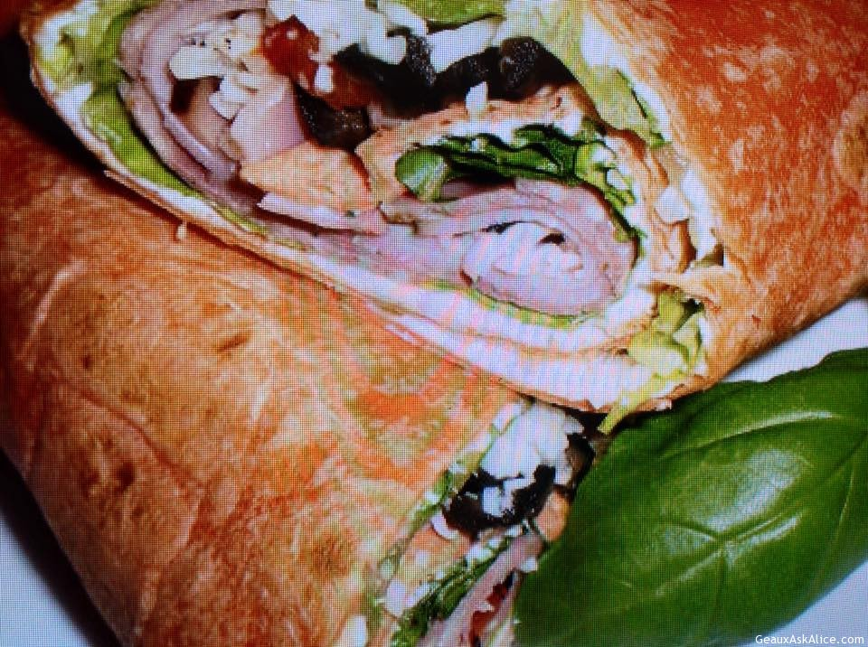 Tasty Antipasto Wrap