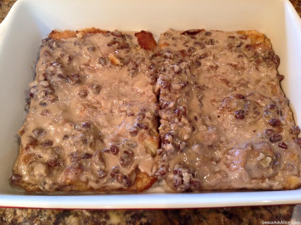 Bread Pudding With Praline Topping