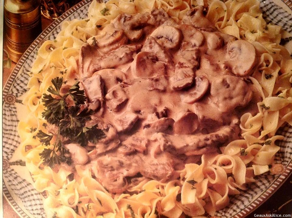 Classic Beef Stroganoff With Parslied Potatoes