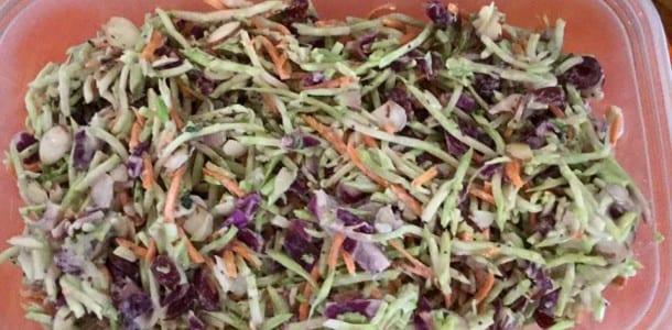 Crunchy Cranberry Broccoli Slaw