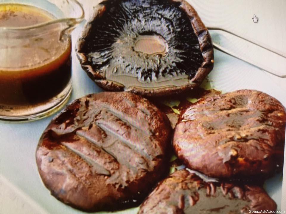 Grilled Balsamic Portabella Mushroom Caps