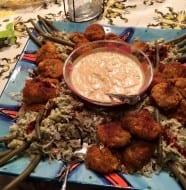 Shrimp or Crawfish Cakes with Chipotle Tartar Sauce