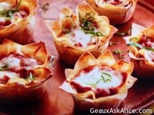 Unique Lasagna Cupcakes