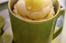 White Chocolate Key-Lime Mug Cake