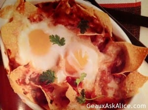 Baked Eggs Nestled with Sausage and Potatoes